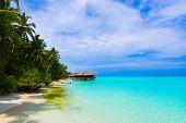 pic of kuramathi  - Water bungalows on a tropical island  - JPG