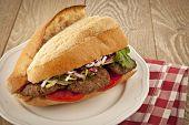 pic of meatballs  - Delicious Turkish Kofte Sandwich  - JPG