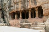 stock photo of jainism  - Cave IV dedicated Jainism at Badami Karnataka India Asia - JPG