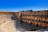 picture of aqueduct  - Old amphitheater Aspendos in Antalya - JPG