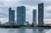 image of highrises  - Waterfront highrise buildings in Miami Florida USA