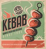 picture of kebab  - Kebab retro poster design concept - JPG