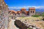 stock photo of sparta  - Ruins of old town in Mystras - JPG