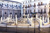 image of shame  - Palermo Piazza Pretoria also known as the Square of Shame Piazza della vergogna - JPG