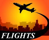 stock photo of time flies  - Flights Plane Representing Go On Leave And Time Off - JPG