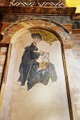 pic of church interior  - Mosaic interior in Chora Kariye church at Istanbul Turkey  - JPG