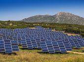 image of orientation  - Solar panels in open field located for best sun orientation - JPG