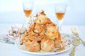 image of cream puff  - Profiterole cream puff  - JPG