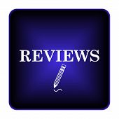 stock photo of tribute  - Reviews icon - JPG