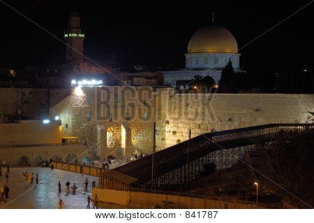 poster of jerusalem old city at evening