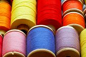 stock photo of rayon  - Details of production of textile and clothing industry.