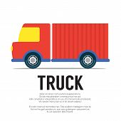 stock photo of food truck  - Truck On White Background Vector Illustration - JPG