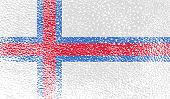 picture of faroe islands  - Flag of Faroe Islands with old texture - JPG