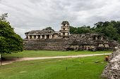 image of mayan  - View of Historic Mayan Site. Traveling Through Chiapas Mexico.