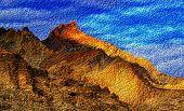 stock photo of jammu kashmir  - Brown colourful rocks and stones  - JPG