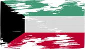 foto of kuwait  - Flag of Kuwait with old texture - JPG