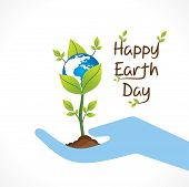 picture of save earth  - happy earth day design  - JPG