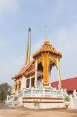 pic of crematory  - Crematory with sky background at Wat Phueng Daet - JPG