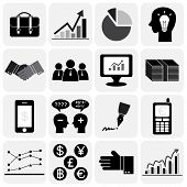 stock photo of positive thought  - Business icon set  - JPG
