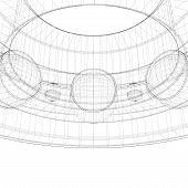image of bearings  - steel ball roller bearings body structure wire model - JPG