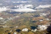 picture of lowlands  - Aerial photo taken during a flight over the lowlands of scottland in February. ** Note: Soft Focus at 100%, best at smaller sizes - JPG
