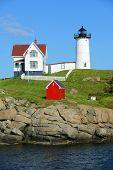 pic of lighthouse  - Cape Neddick Lighthouse  - JPG