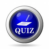 stock photo of quiz  - Quiz icon - JPG
