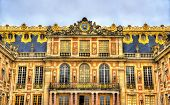 image of winter palace  - Facade of the Palace of Versailles - France