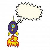 pic of spaceships  - cartoon spaceship with speech bubble - JPG