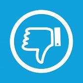 picture of dislike  - Image of dislike symbol in circle - JPG