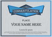 stock photo of congratulation  - congratulation frame Vintage retro background design template - JPG