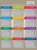 picture of monday  - German calendar for year 2016 - JPG