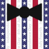 picture of black tie  - stylized suit with black bow tie  - JPG