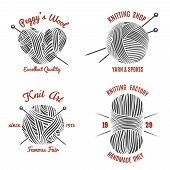 picture of knitting  - Knitting labels and knitwear logo set - JPG