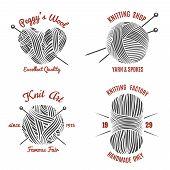 foto of knitwear  - Knitting labels and knitwear logo set - JPG