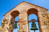 foto of blue-bell  - Medieval stone castle in Calafell town Spain - JPG