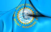 image of south american flag  - 3D Flag of the South Dakota USA - JPG
