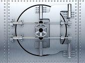 picture of vault  - Banking metallic door vault  - JPG