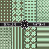 pic of rhombus  - Set of vector seamless geometric pattern backgrounds and textures for decoration - JPG