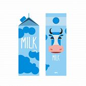 stock photo of packages  - Packaging of milk - JPG