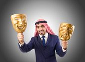 pic of arab man  - Arab man hypocrisy concept - JPG