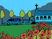 foto of hearse  - Funeral Blue Day - JPG
