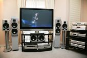 image of home theater  - Interior with a home theater and acoustics - JPG