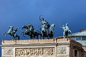 Постер, плакат: Bronze Quadriga Depicting The triumph Of Apollo And Euterpe