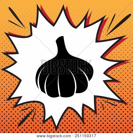 Garlic Simple Sign Vector Comics