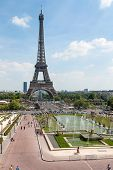 Panoramic View Of The Eifel Tower, Paris, France, Europe poster
