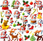 stock photo of rudolf  - big vector christmas set - JPG