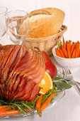 Honey And Brown Sugar Glazed Easter Ham