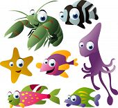 2010 sea life vector set