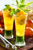 foto of passion fruit  - refreshing passion fruit orange juice - JPG